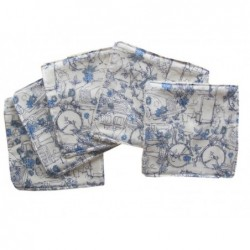 Lingettes Travel bleues