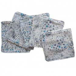 Lingettes étoiles turquoises