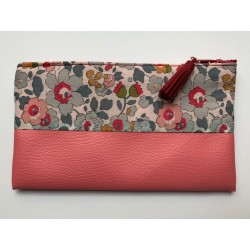 Trousse pochette rose -...
